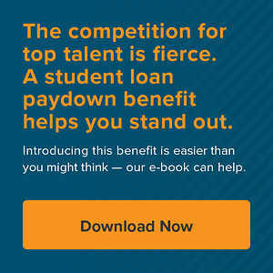 The competition for top talent is fierce. A student loan paydown benefit helps you stand out. Download our e-book now.