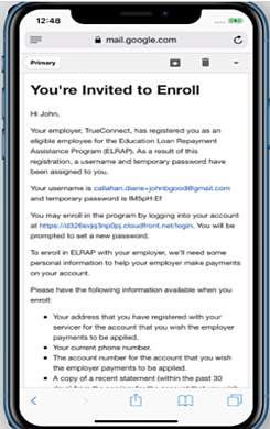 Email Enrollment in Phone
