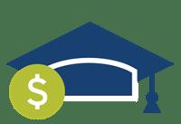 Graduation Cap Dollar Sign